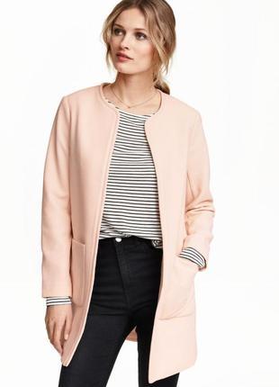 Короткое пальто из структурной ткани h&m