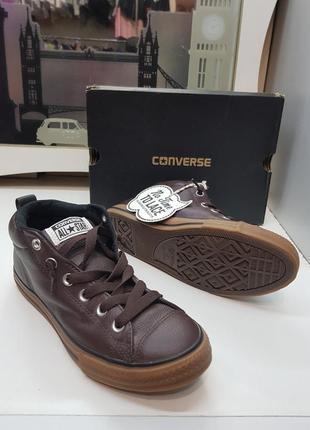 Кеды кожаные converse original размер us 5.5 uk 5