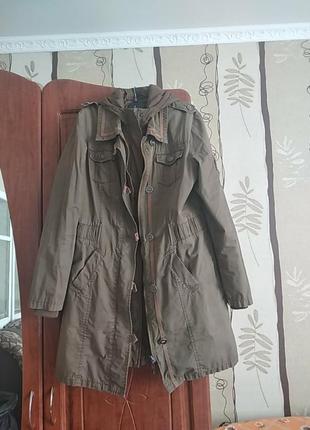 Демисизонна фірмена куртка-плащ 2в одному