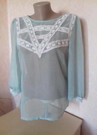 Блуза шифоновая, р.s