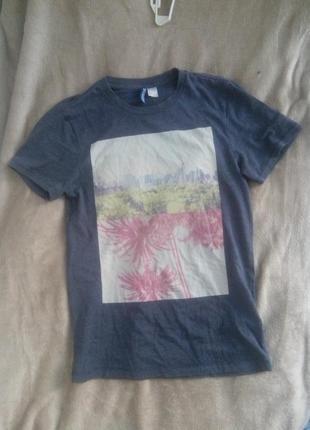 Женская футболка с принтом h&m divided
