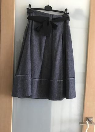 Молодежная стильная джинсовая юбка на все случаи жизни marella