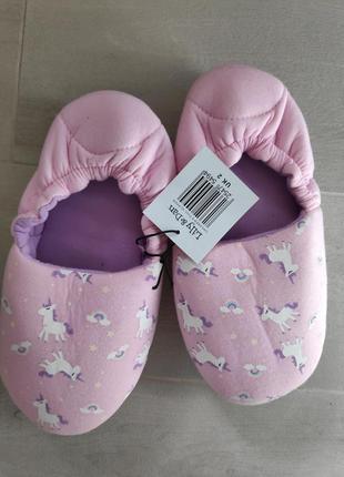 Модные розовые тапочки с единорогами от lilly&dan, uk 2