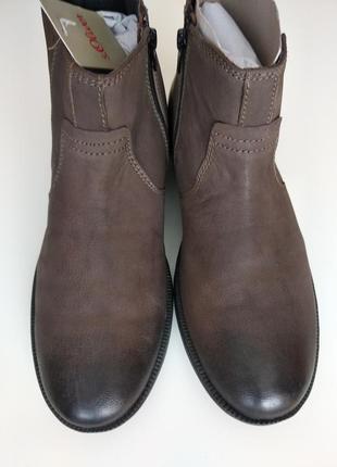 Стильные кожаные мужские ботинки челси s.oliver 41размер2
