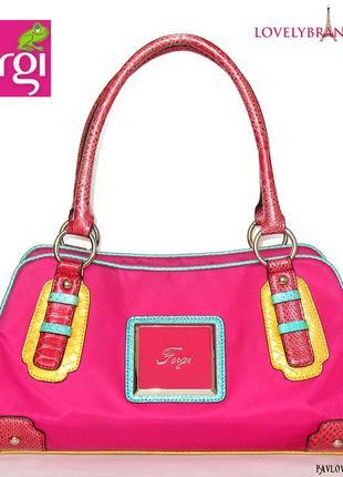 Сумка женская fergi италия летняя на плечо модная яркая стильная трендовая сумочка шоппер