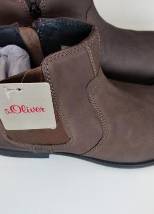 Стильные кожаные мужские ботинки челси s.oliver 41размер3