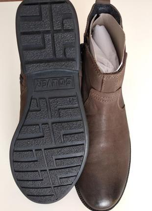 Стильные кожаные мужские ботинки челси s.oliver 41размер4