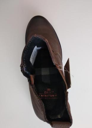 Стильные кожаные мужские ботинки челси s.oliver 41размер5