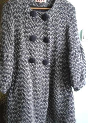 Пальто( шерсть 100%)- осень-зима( к праздничкам сделаю  отличную скидку!)