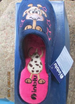 Тапки, тапочки, домашняя обувь. inblu. жирафик