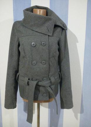 Напіввовняна тепла курточка