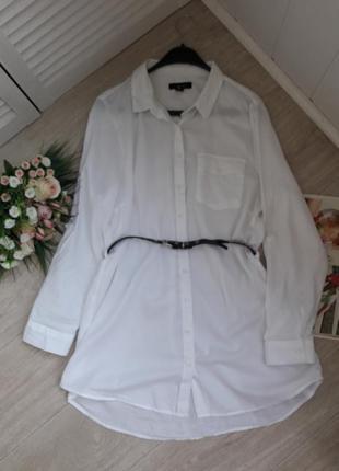 Белая рубашка -туника ххл(18) atmosphere