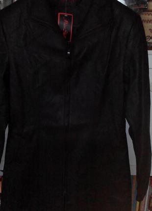 Пальто плащ френч новый. экокожа размер 48 l-xl
