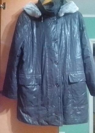 Теплая куртка большого размера