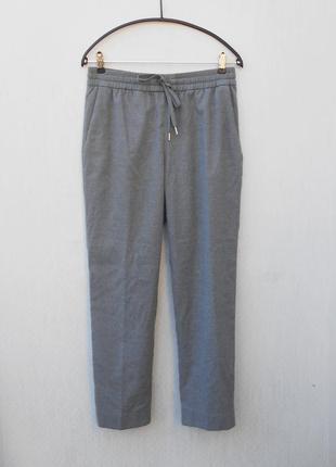 Высокие серые осенние класическо - спортивные брюки
