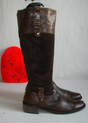 Сапоги кожаные на флисе бренд  linea zeta