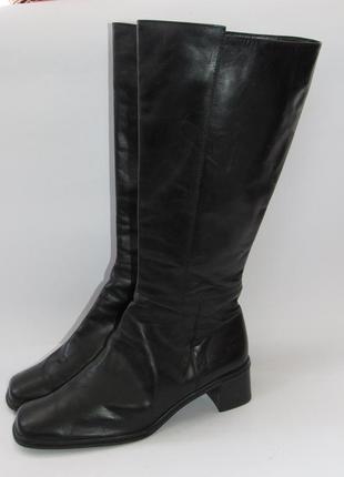 Gabor_австрия кожа, шикарные стильные высокие сапоги большого размера 9р ст.28см h18