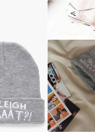 Англия вязаная шапочка-бини со слоганом оригинал boohoo / в'язана beanie
