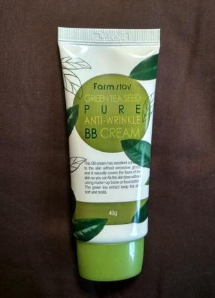 Вв-крем farm stay green tea seed pure anti wrinkle, корея