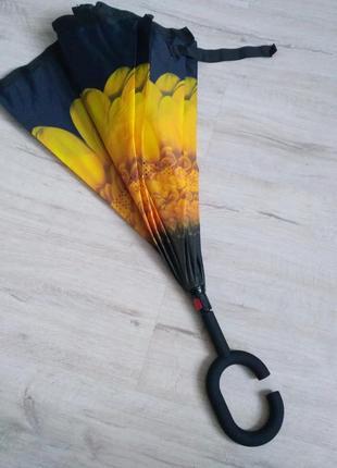 Зонт smart exclusive.  ультрамодный зонт обратного сложения
