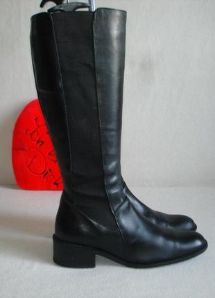Сапоги кожаные на плотном флисе бренд linz