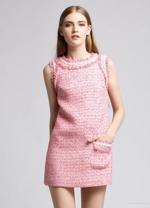 Платье из твида стиль chanel