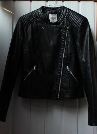 Кожаная куртка clockhouse