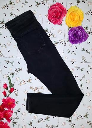 Крутые высокие узкие джинсы скинни с дырками topshop, размер s-m