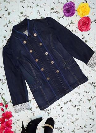 Крутая плотная джинсовая куртка per una, размер 52-54, большой размер