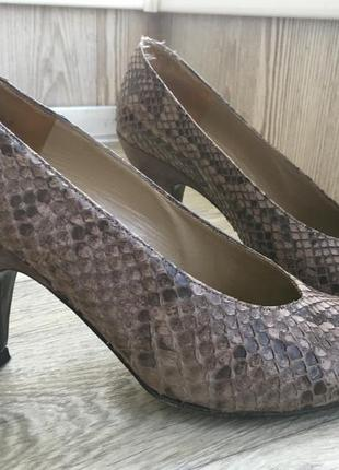 Шикарные luxury туфли-лодочки из кожи питона