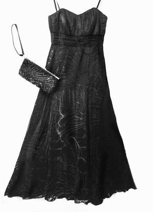 Шелковое вечернее длинное платье