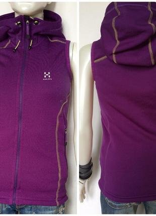 Haglöfs технологичный жилет с капюшоном яркого фиолетового цвета