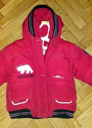 Зимняя куртка на утеплителе и флисе рост 92