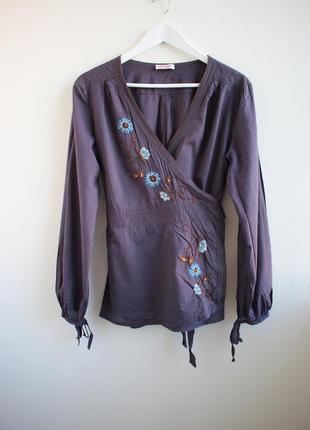 Оригинальная блуза-кимоно с вышивкой от orsay
