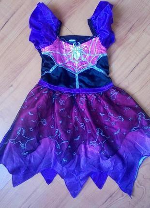 Карнавальное платье на хэллоуин на 1-2 годика