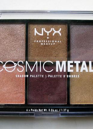 Палетка теней cosmic metals shadow palette