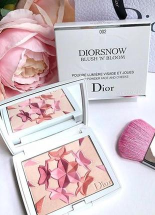 Азиатская лимитка dior diorsnow spring coral blush and bloom powder 002