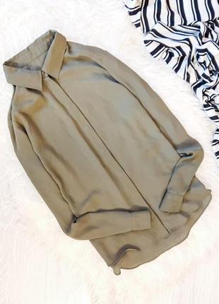 Шифоновая рубашка цвета хаки