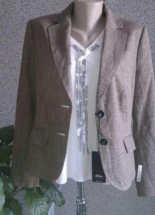 Шикарный статусный пиджак жакет блейзер s.oliver