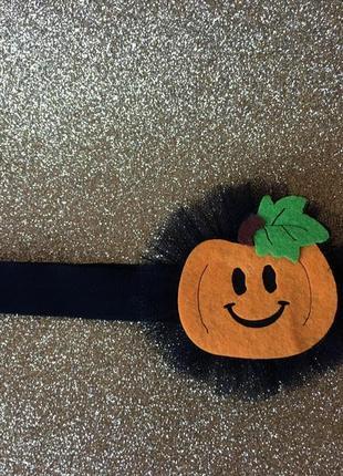 Повязка для девочка на хэллоуин с тыквой, тыковкой, halloween
