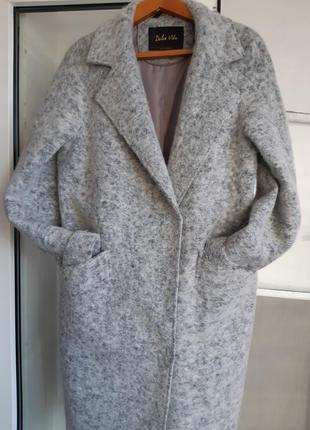 Шерстяное (кашемировое)теплое стильное пальто