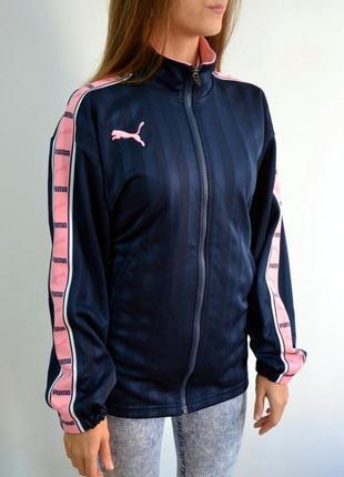 Отличная женская олимпийка оверсайз puma  с лампасами (one size)