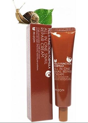 Улиточный крем mizon all in one snail repair cream 92%, 35 мл., корея