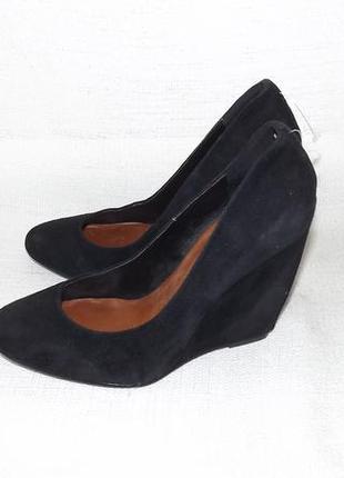 Туфли venturini замшевые на танкетке 23 см стелька