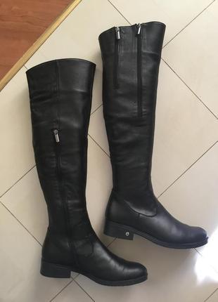 Сапоги ботфорты,зима размер - 39