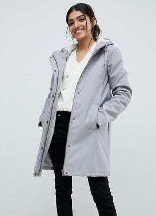 Теплый дождевик asos tall borg raincoat eu 38 непромокаемый зимний утепленный