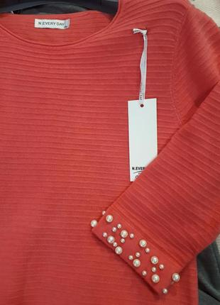 Красивое кораловое платье  n. every day