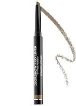 Подводка для контура глаз водостойкая diorshow pro liner waterproof eyeliner 582 pro brown