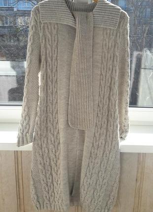 Вязаное пальто lee cooper