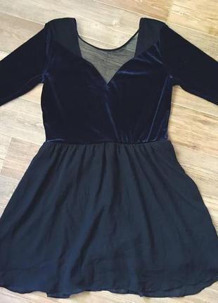 Платье  велюр велюровое короткое zara